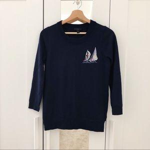 Sailboat Preppy Light Sweater